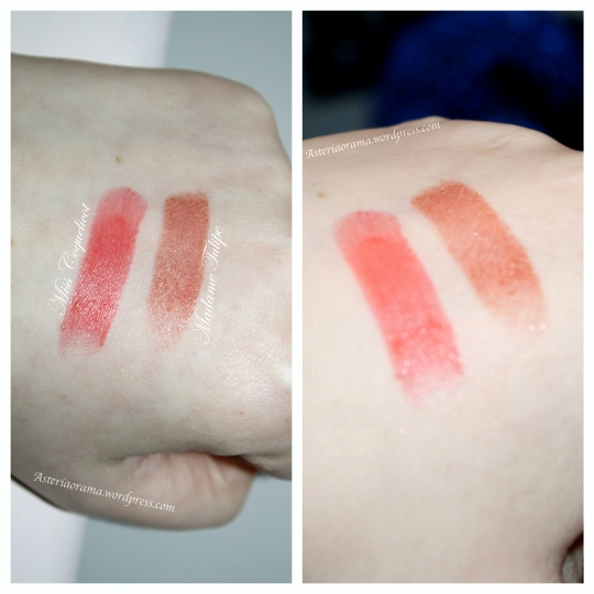 Swatchs - rouge in love - Madame Tulipe - Miss Coquelicot