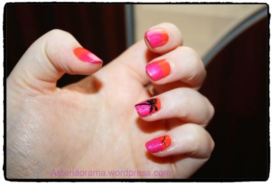 Nail art - couleur été palmier tropical 2
